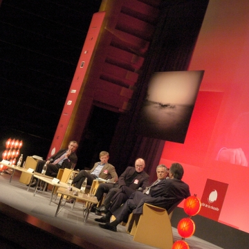 Alain Etchegoyen, Charles-Henri Filippi, Flemming Larsen, Jacques Barraux and Jacques Attali